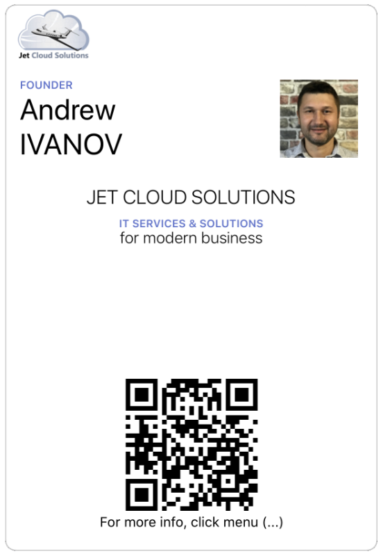 Google Pay Service - Download Jet Cloud Solution biz card